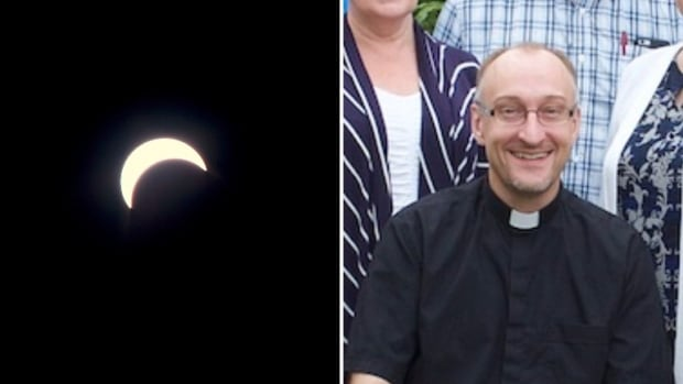 Father Darryl Millette says he was excited about how his eclipse video turned out.