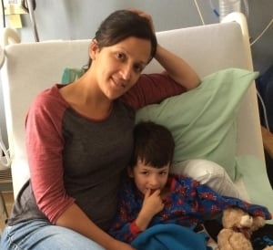 Andrew Stevens son Logan has cancer