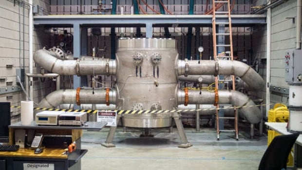 Project 11 at the U.S. National High Magnetic Field Laboratory is now the world's strongest resistive magnet. It's encased in 16,000 litres of water to keep it cool.