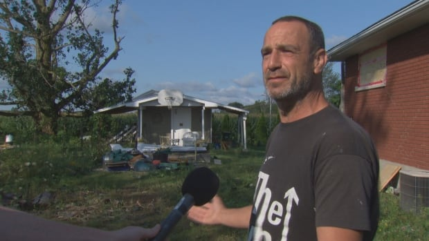 Michael Valiquette says he was surprised by the damage he saw when he returned home after a powerful storm passed through the Ottawa area Tuesday evening.