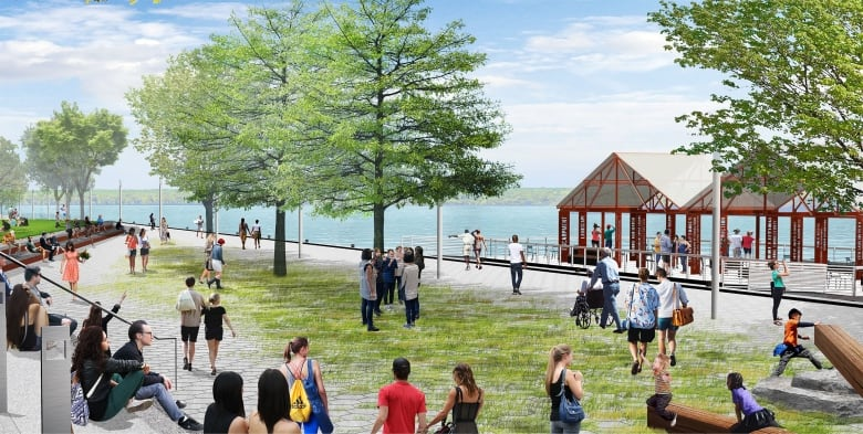Take a first peek at designs for the city's waterfront Pier 8 park