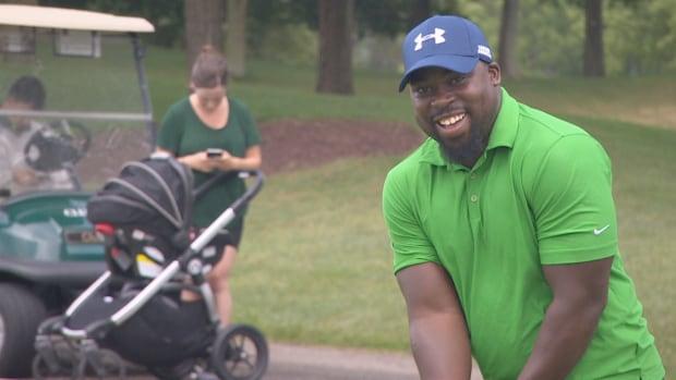 Edward Urquhart likens playing golf to life, saying both have 'ups and downs.'