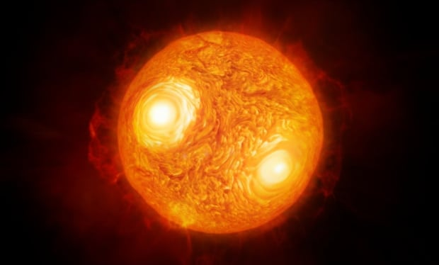 Artist's impression of red supergiant star Antares