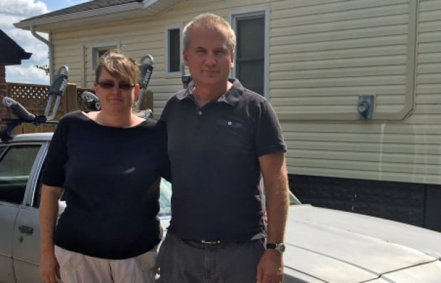 Dave and Debra Andrukonis outside their home in south Windsor