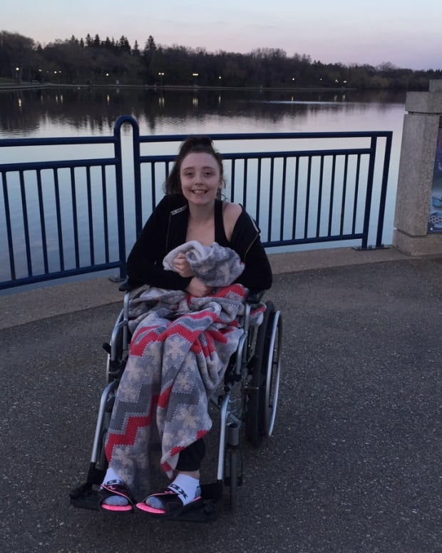 Katherine Kay in wheelchair