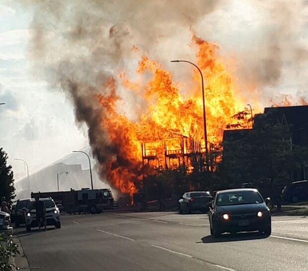 Emergency crews fight heavy blaze in Whitby