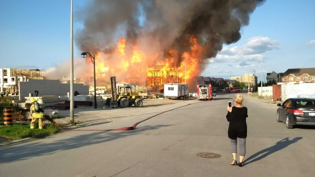 Fire marshal expected to begin investigation at scene of massive Whitby blaze