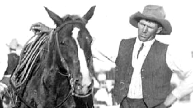 Legendary cowboy Clem Gardner in this undated photo from the Glenbow Archives.