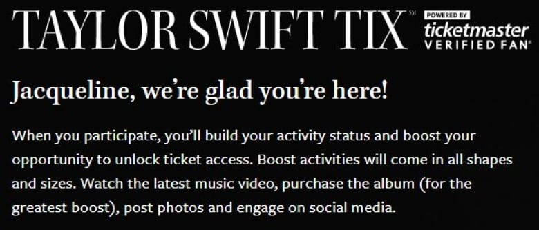 Taylor Swift pitches new way for fans, not bots, to get