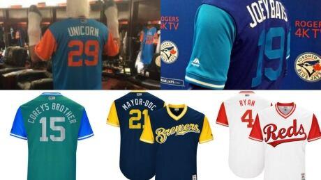 MLB players weekend jerseys