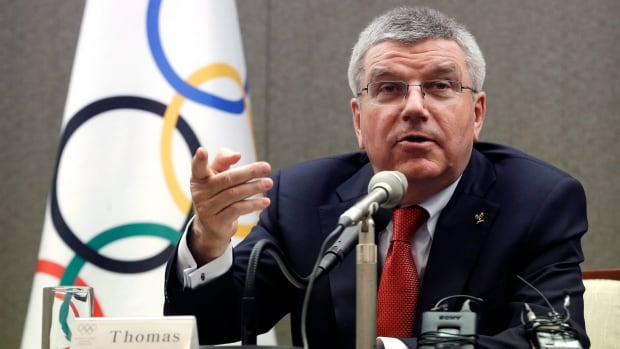 International Olympic Committee president Thomas Bach, seen in this file photo, does not see any immediate security issues despite challenges posed by the escalating tensions over North Korea's nuclear weapons program.