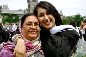 Sadia with mom