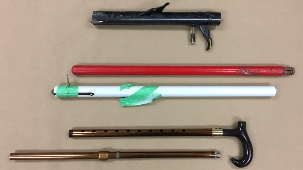 "Winnipeg police seized three homemade ""bang stick""-style firearms from a home in St. Boniface last week."