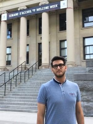 Hadi Wess, President of the Student Federation at Ottawa University, August 29, 2017