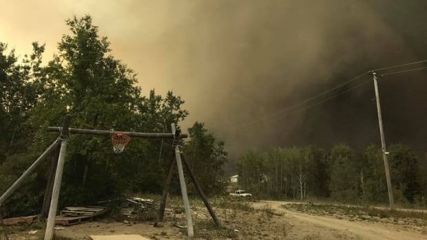 Residents of Wasagamack First Nation in Manitoba were forced from their homes on Tuesday due to a nearby wildfire.