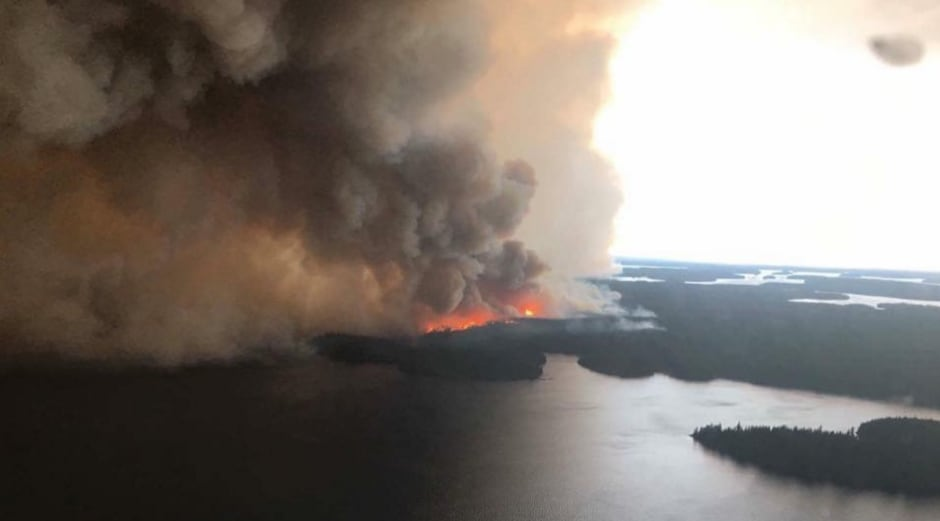 Wasagamack First Nation forest fire