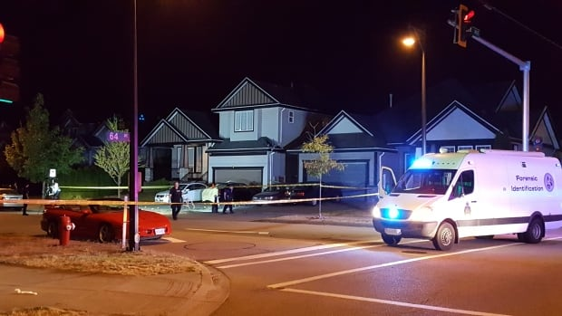 Surrey RCMP say a man was found dead in a car in his driveway after reports of shots fired in the area.