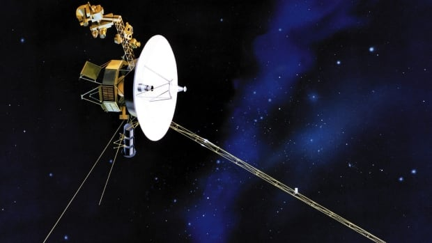 This undated artist's rendering shows one of NASA's twin Voyager and Voyager 2 spacecrafts.
