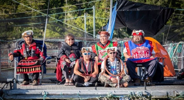 First Nations fish farm occupation - ONE TIME USE ONLY