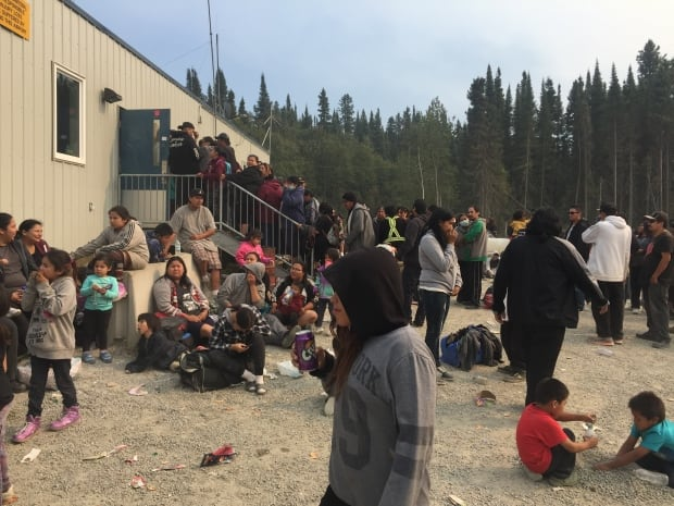 Wasagamack fire evacuees in St. Theresa Point