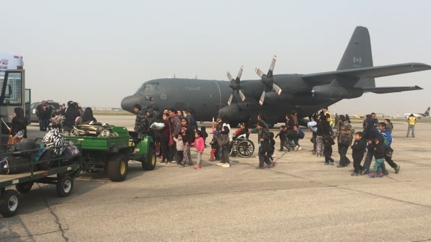A Canadian Armed Forces Hercules aircraft is back in action Saturday and Sunday as another 1,500 people are evacuated from the Island Lake area.