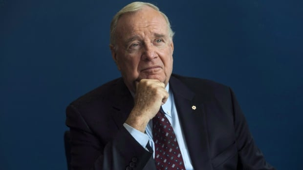 Former prime minister Paul Martin poses for a portrait following an interview with The Canadian Press in 2016. Martin says he thinks Canada's move to dismantle the Indian Act could have consequences for Indigenous people around the world.