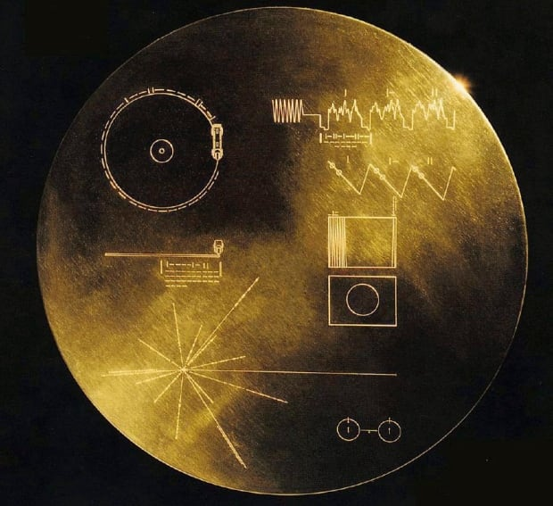 12-inch gold plated copper disc voyager