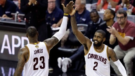 Irving bids adieu to Cleveland, but no extra love for LeBron