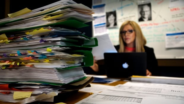 CBC investigative reporter Natalie Clancy pores over hundreds of documents leaked to CBC News, which started a year long investigation into the $3.3 billion dollar Port Mann Bridge and highway widening project.