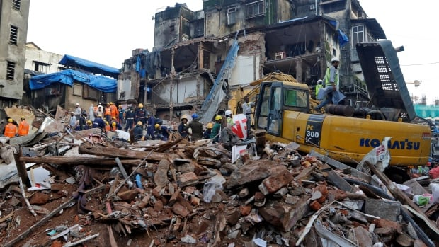Residential building collapses in Mumbai trapping 40 people