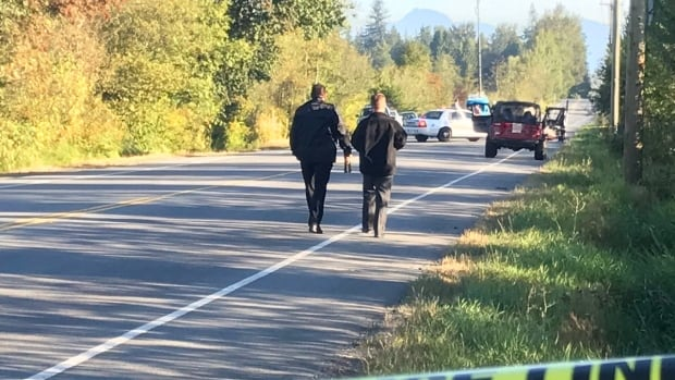 Police were called to 232 Street and 64th Avenue Friday morning, where they found two people suffering from gunshot wounds.