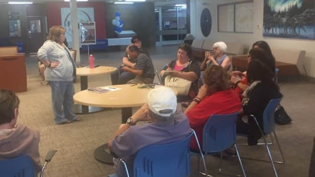 Community members held a meeting Saturday in The Pas to discuss what to do after the town's only homeless shelter abruptly announced it will close for good at the end of September.