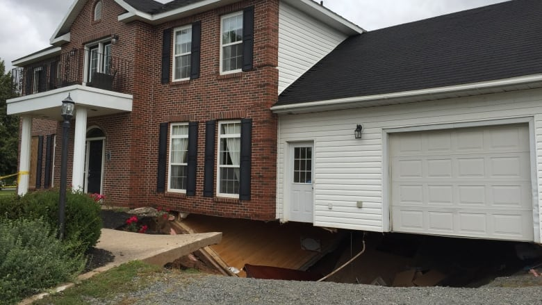 Insurance company won't cover Falmouth, N.S., house ruined by sinkhole