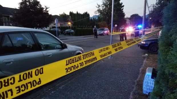 Police in Chilliwack, B.C., investigate a shooting that took place early Sunday morning.