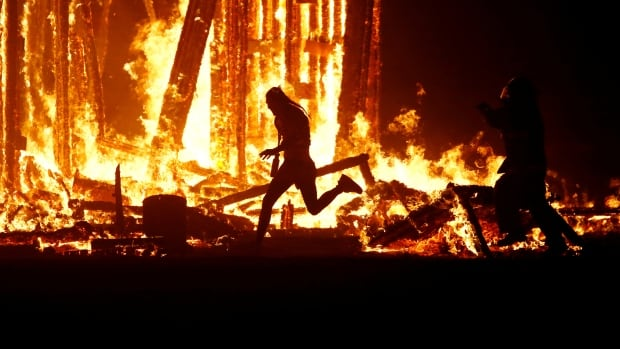 A man died after running into the flames of the Burning Man festival's signature effigy fire in the Black Rock Desert of Nevada this weekend.