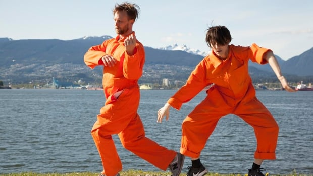 In Orange Magpies, two dancers appear in various locations across the Lower Mainland in what artist Evann Siebens calls a kind of 'love letter to Vancouver.'