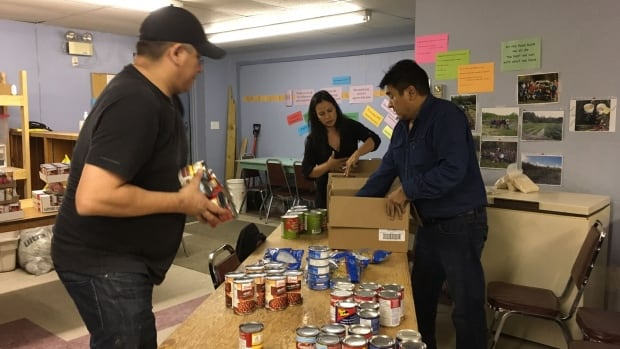 Trudy Connor, secretary of the Lac La Ronge Food Bank board, said the food bank consists of about 80 volunteers who prepare 75 food hampers a week in addition to shopping for food, packaging it and tending to the food bank's garden.