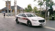 Guelph Police cruiser near train station