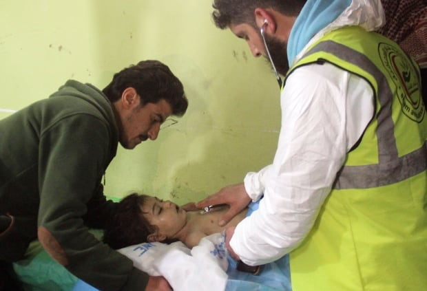 Syria toxic gas attack suspected