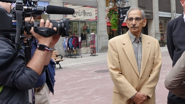 Former Health Canada scientist Shiv Chopra appeared in court today for a hearing at the Federal Court of Appeal on his 2004 firing.