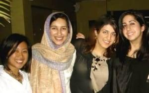 Sadia Rafiquddin with friends