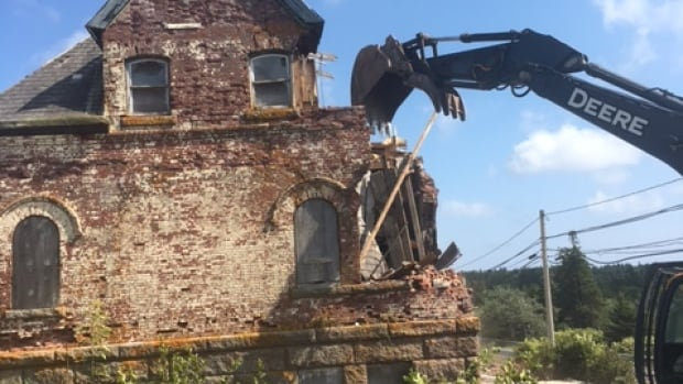 Guysborough County says the historic cable station building was unsafe and had to be demolished.