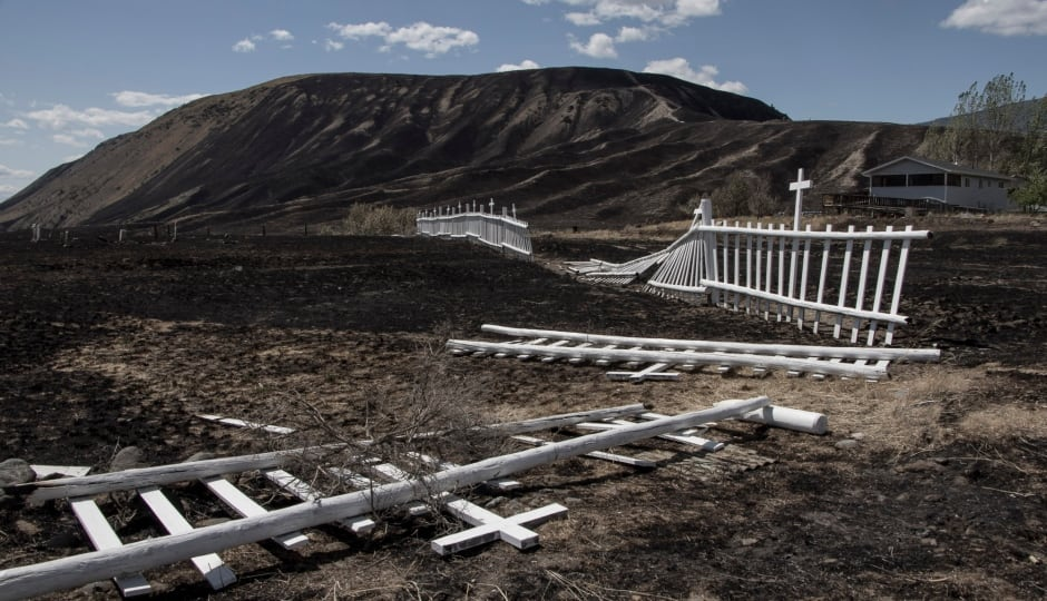B.C. Wildfires July 2017 Ashcroft Fire Cemetery Elephant Hill