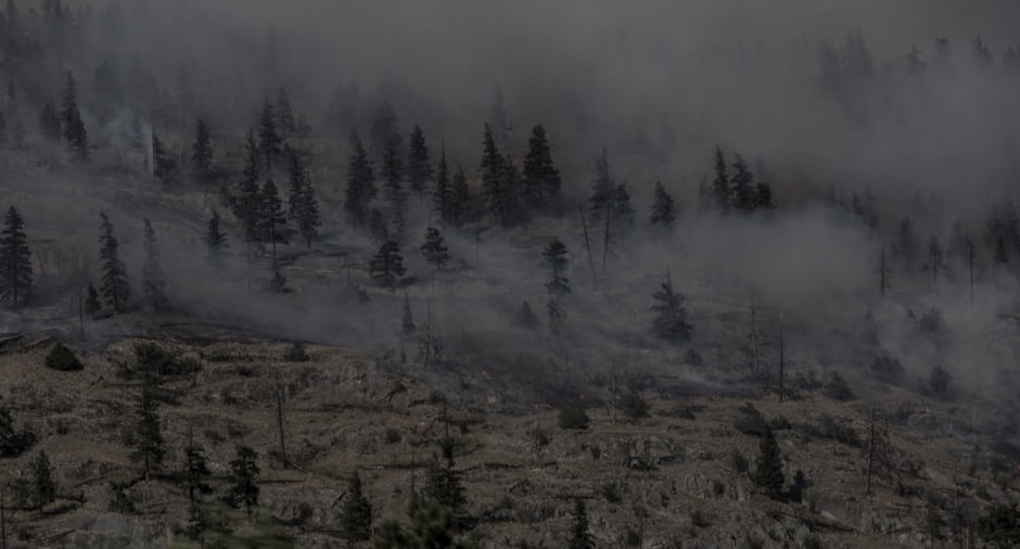 B.C. Wildfires July 2017 Mountains in Smoke