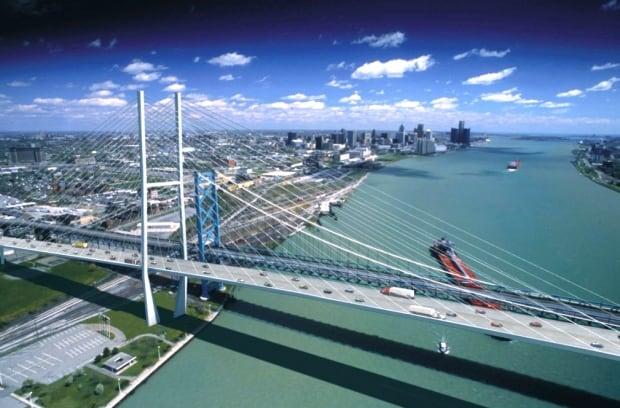 Ambassador Bridge, second span