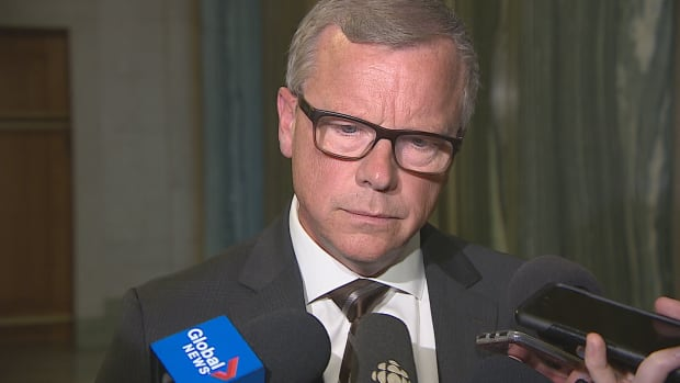 Premier Brad Wall answered questions about the RCMP interview on Wednesday.