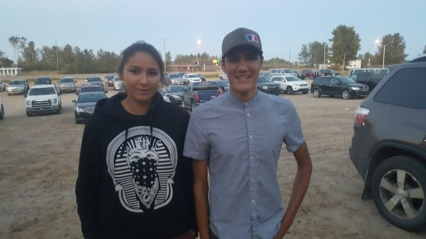 Marion Billette and Rayden Noltcho in Buffalo Narrows
