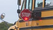 school bus stop sign P.E.I.