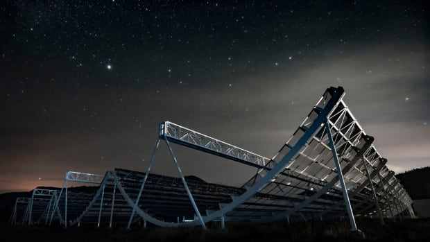 The CHIME radio telescope will search our universe for phenomena such as fast radio bursts, pulsars and more.