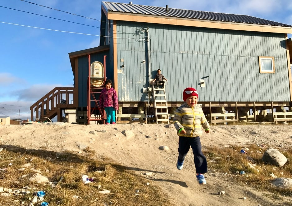 Kids playing in Gjoa Haven